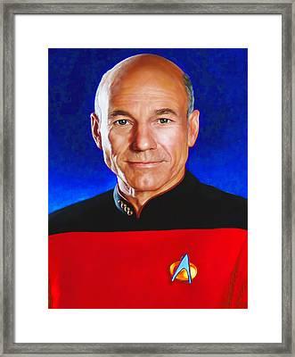 Star Trek 4c By Nixo Framed Print by Nicholas Nixo
