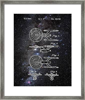 Star Trek Enterprise Patent Space Framed Print by Bill Cannon