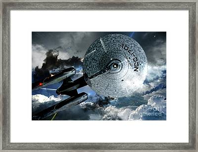 Star Trek Into Darkness, Original Mixed Media Framed Print