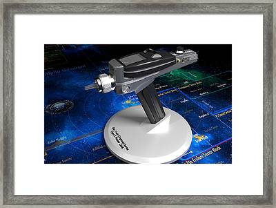 Star Trek Type II Phaser Framed Print by Michel Jongbloed