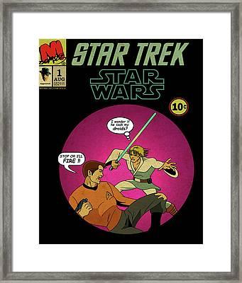 Star Trek Wars Framed Print