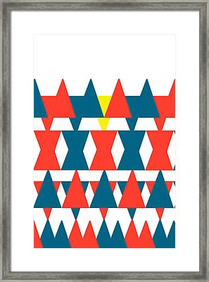Star Triangle Pyramid Framed Print by Saddam Hussein