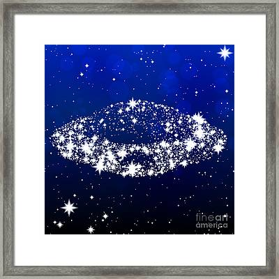 Star Ufo Framed Print