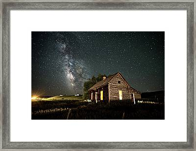 Framed Print featuring the photograph Star Valley Cabin by Wesley Aston