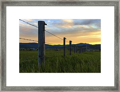 Star Valley Framed Print