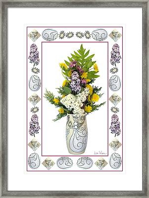 Framed Print featuring the photograph Star Vase With A Bouquet From Heaven by Lise Winne