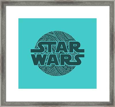 Star Wars Art - Logo - Blue 02 Framed Print