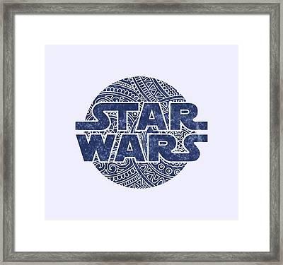 Star Wars Art - Logo - Blue Framed Print