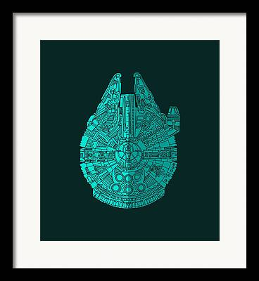 Millennium Falcon Framed Prints
