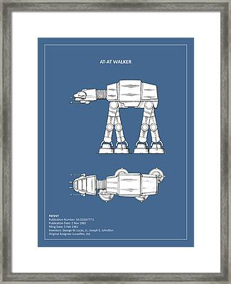 Star Wars - At-at Patent Framed Print by Mark Rogan