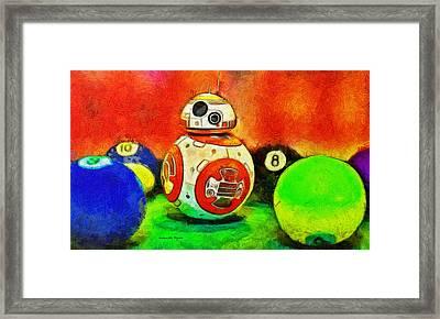 Star Wars Bb-8 And Friends - Da Framed Print