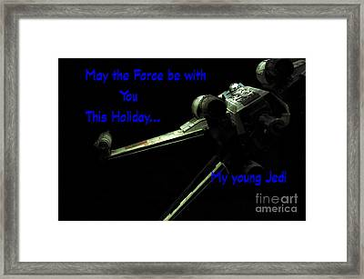 Star Wars Birthday Card 5 Framed Print by Micah May