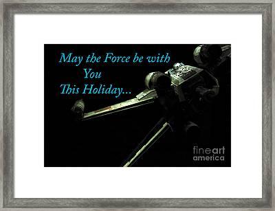 Star Wars Birthday Card 6 Framed Print by Micah May