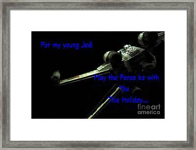 Star Wars Birthday Card 7 Framed Print by Micah May
