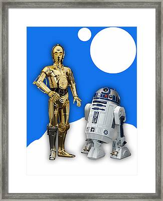 Star Wars C-3po And R2-d2 Framed Print by Marvin Blaine