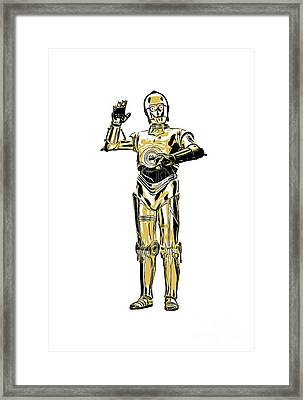 Star Wars C-3po Droid Tee Framed Print