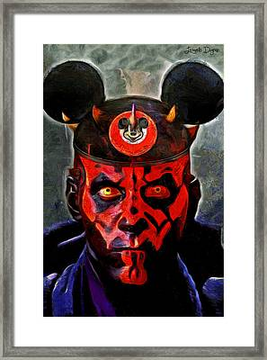 Star Wars Darth Maul Mouse Framed Print by Leonardo Digenio
