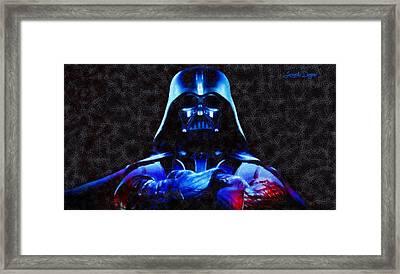 Star Wars Darth Vader Boss - Da Framed Print by Leonardo Digenio