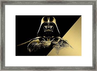 Star Wars Darth Vader Collection Framed Print by Marvin Blaine