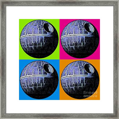 Star Wars Death Star Pop Art Framed Print