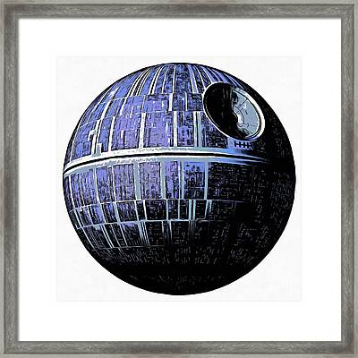 Star Wars Deathstar Graphic Framed Print