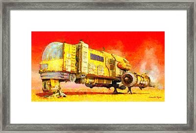 Star Wars Desert Transport Ship - Da Framed Print