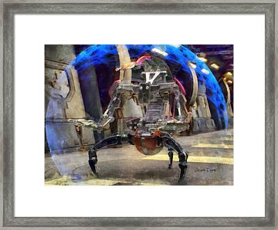 Star Wars Destroyer Droid  - Aquarell Style -  - Da Framed Print by Leonardo Digenio