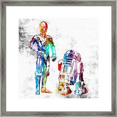 Star Wars Droids Grunge Framed Print