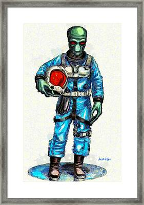 Star Wars Duro Pilot - Da Framed Print by Leonardo Digenio