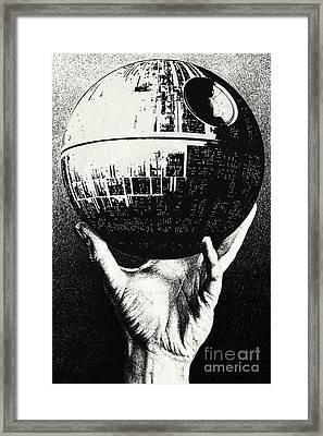 Star Wars - Escher Death Star Framed Print by Luca Oleastri
