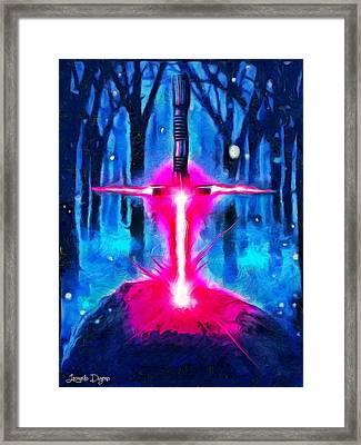 Star Wars Excalibur - Da Framed Print