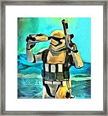Star Wars First Order Stormtrooper - Pa Framed Print