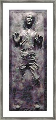 Star Wars Han Solo Frozen In Carbonite - Pa Framed Print