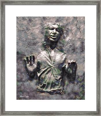 Star Wars Han Solo In Carbonite - Pa Framed Print by Leonardo Digenio