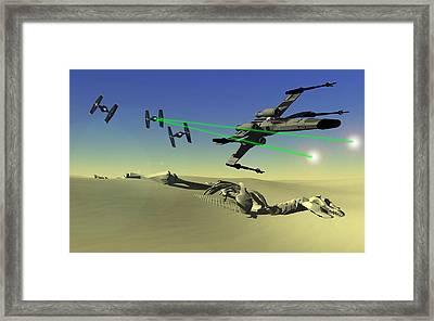 Star Wars Framed Print by Michael Greenaway