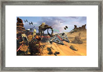 Star Wars Millennium Falcon Framed Print