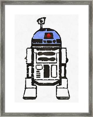 Star Wars R2d2 Droid Robot Framed Print by Edward Fielding