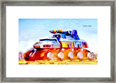 Star Wars Rebel Army Armor Vehicle  - Aquarell Vivid Style -  - Da Framed Print