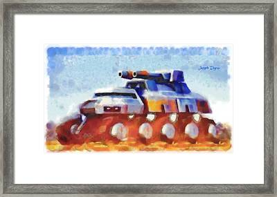 Star Wars Rebel Army Armor Vehicle  - Watercolor Wet Style -  - Da Framed Print