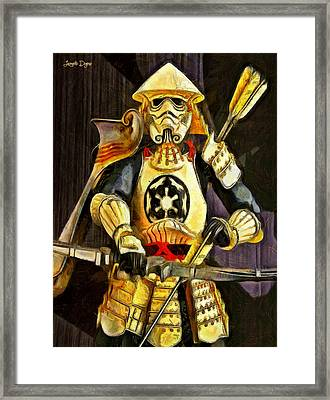 Star Wars Samurai Trooper - Da Framed Print by Leonardo Digenio