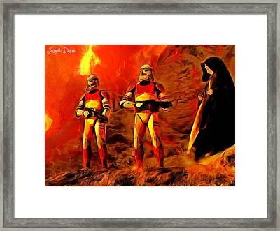 Star Wars - Searching For Him - Da Framed Print by Leonardo Digenio