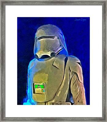Star Wars Snowtrooper - Pa Framed Print