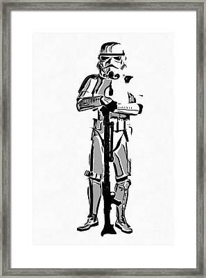 Star Wars Stormtrooper Graphic Novel Fan Art Drawing Framed Print