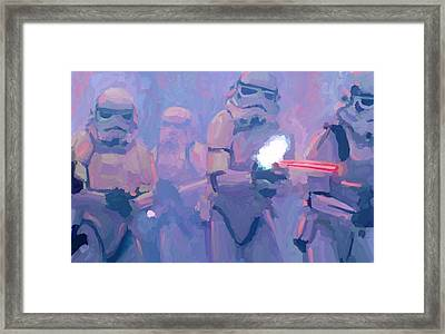 Star Wars Stormtroopers Blasting Away Framed Print