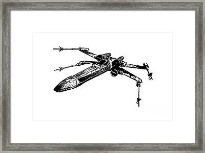 Star Wars T-65 X-wing Starfighter Tee Framed Print by Emf