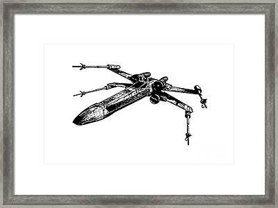 Star Wars T-65 X-wing Starfighter Tee Framed Print by Edward Fielding