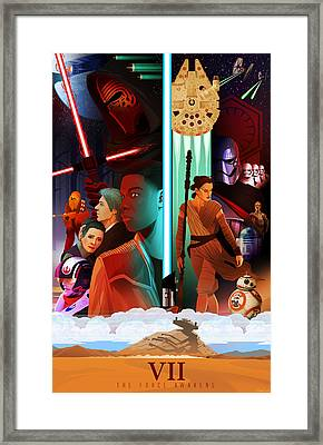 Star Wars The Force Awakens Alternative Poster Framed Print by Christopher Ables