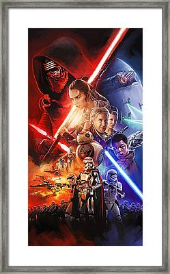 Star Wars The Force Awakens Artwork Framed Print by Sheraz A
