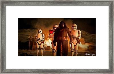 Star Wars The Force Awakens - Da Framed Print by Leonardo Digenio