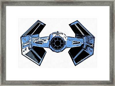 Star Wars Tie Fighter Advanced X1 Framed Print by Edward Fielding